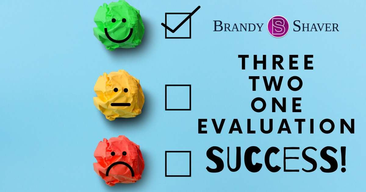Three, Two, One Evaluation