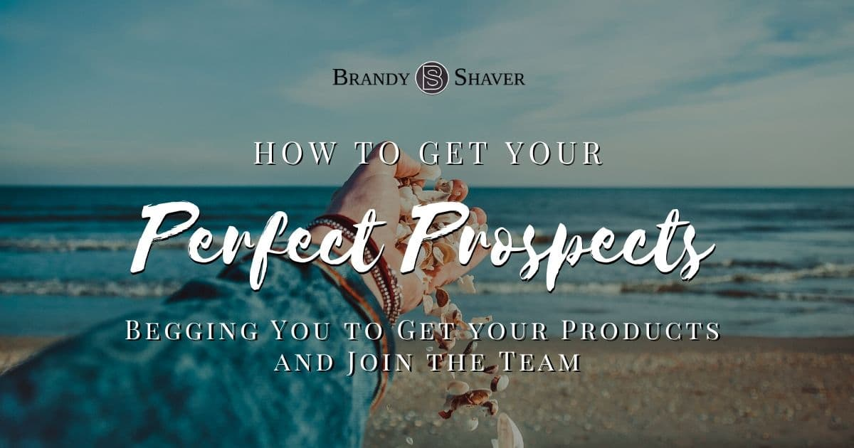 How to Get Your Perfect Prospects Begging You to Get your Products and Join the Team