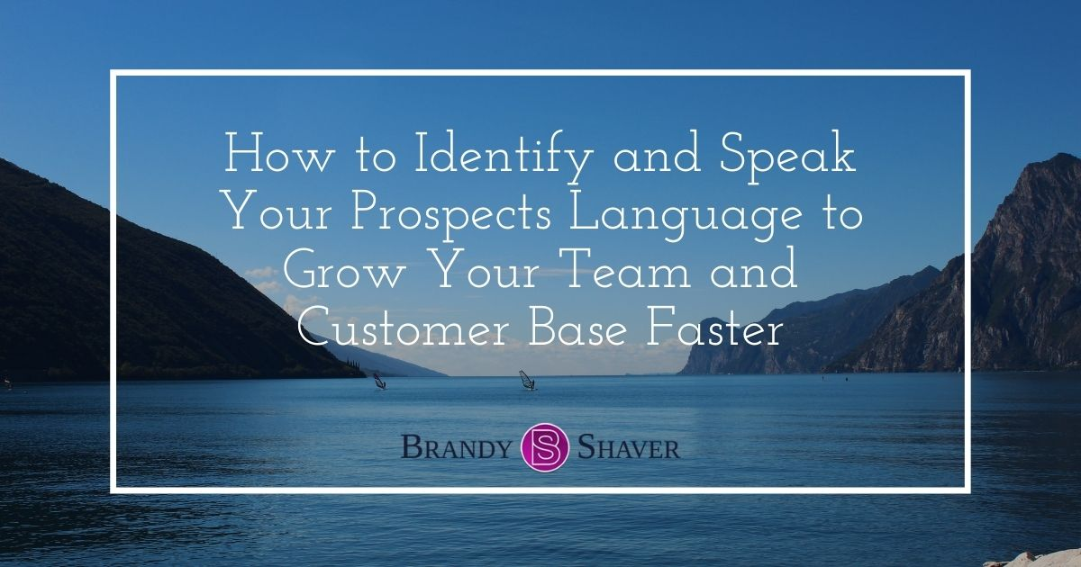 How to Identify and Speak Your Prospects Language to Grow Your Team and Customer Base Faster