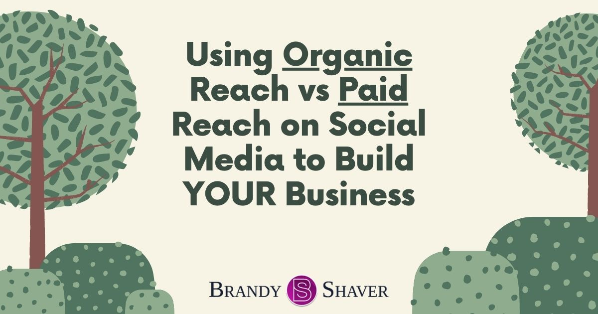 Using Organic Reach vs Paid Reach on Social Media to Build your Business